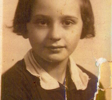 Halina Drexler, 9 years old, 1937