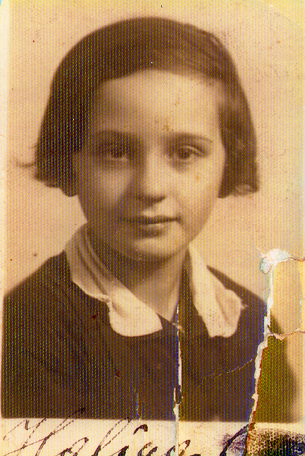 Halina Drexler, 9 years old, 1937