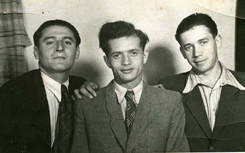 Alan with two friends