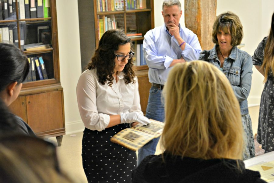 Teachers from Lynchburg on a tour of the archives