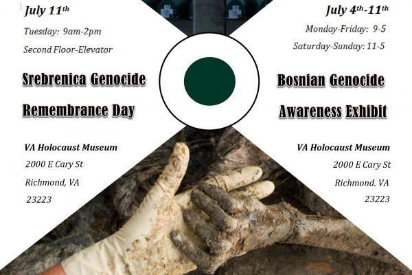Srebrenica Remembrance Week Flyer