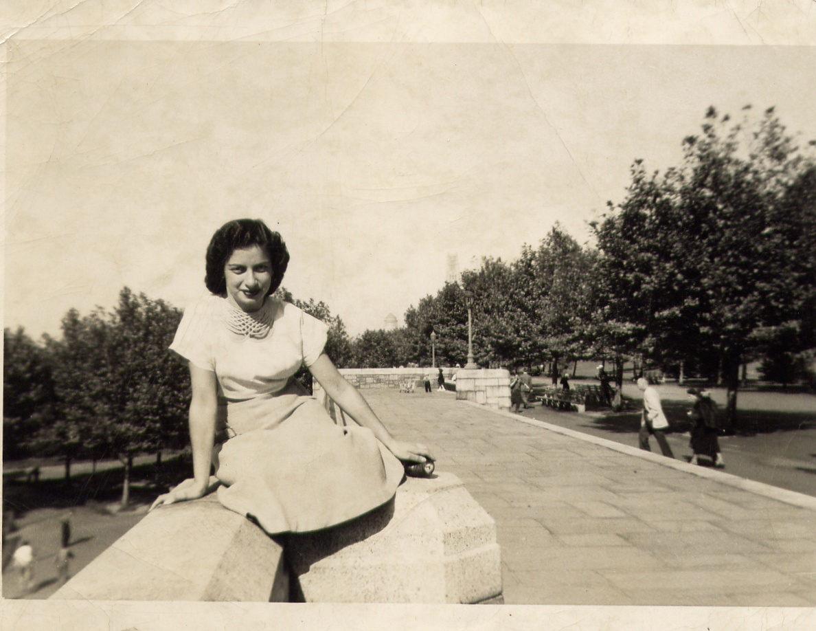 Margot at Riverside Drive, 1950