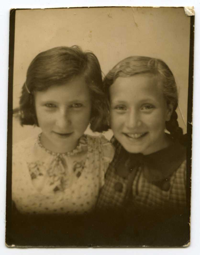 Ida and friend, age 10